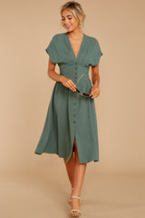 3 Well Balanced Jade Green Dress at reddressboutique.com