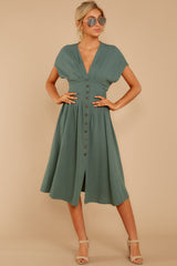6 Well Balanced Jade Green Dress at reddressboutique.com