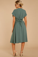 7 Well Balanced Jade Green Dress at reddressboutique.com