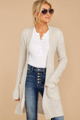 4 Obsession Confession Oatmeal Cardigan at reddressboutique.com