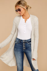 Obsession Confession Oatmeal Chenille Cardigan