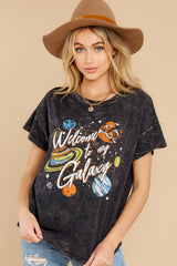 8 Welcome To My Galaxy Charcoal Tee at reddress.com