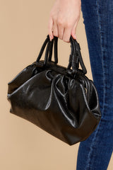 3 No Easy Catch Black Vegan Leather Crossbody Bag at reddress.com