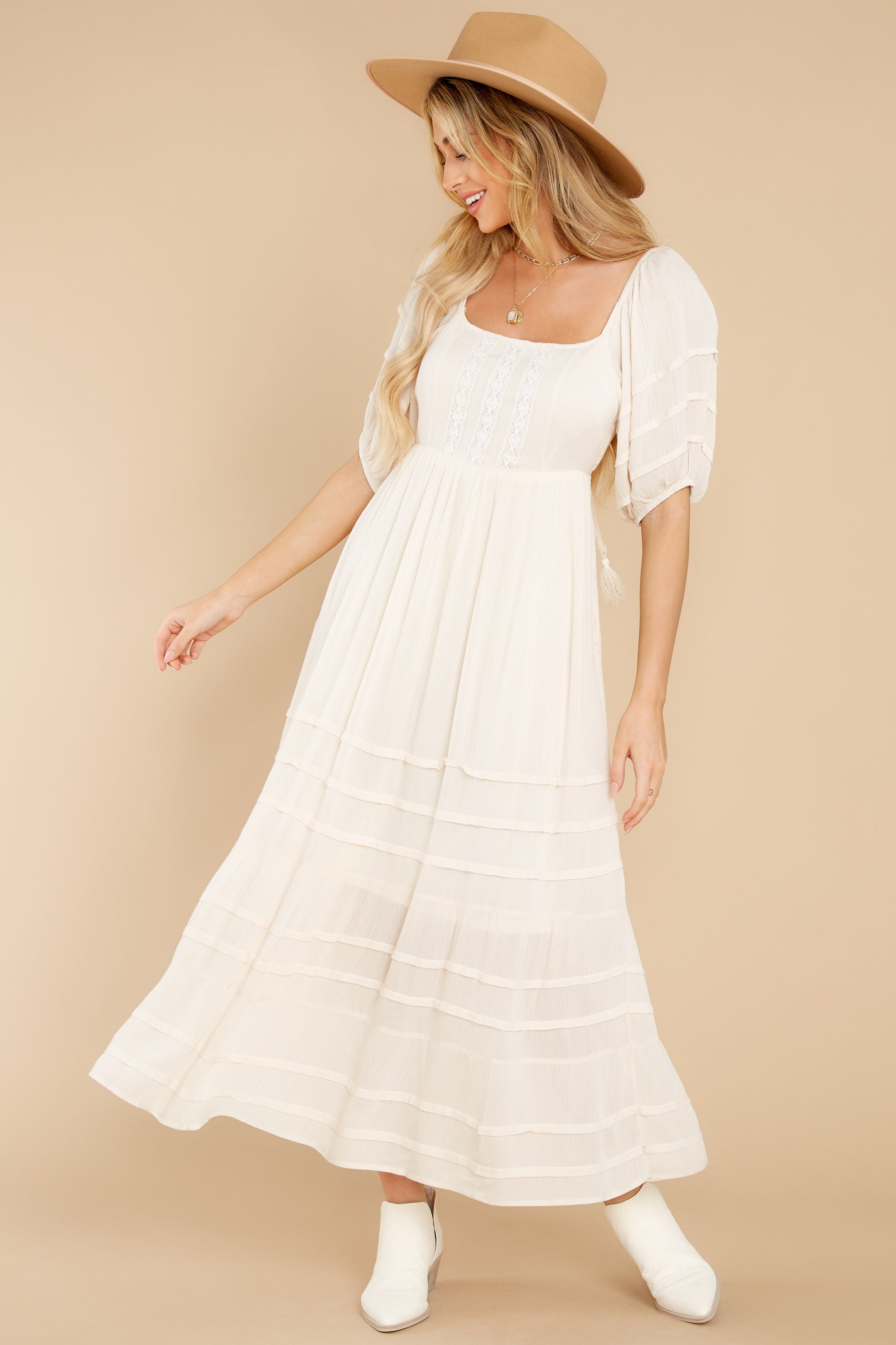 6 Long Way Around Ivory Maxi Dress at reddress.com