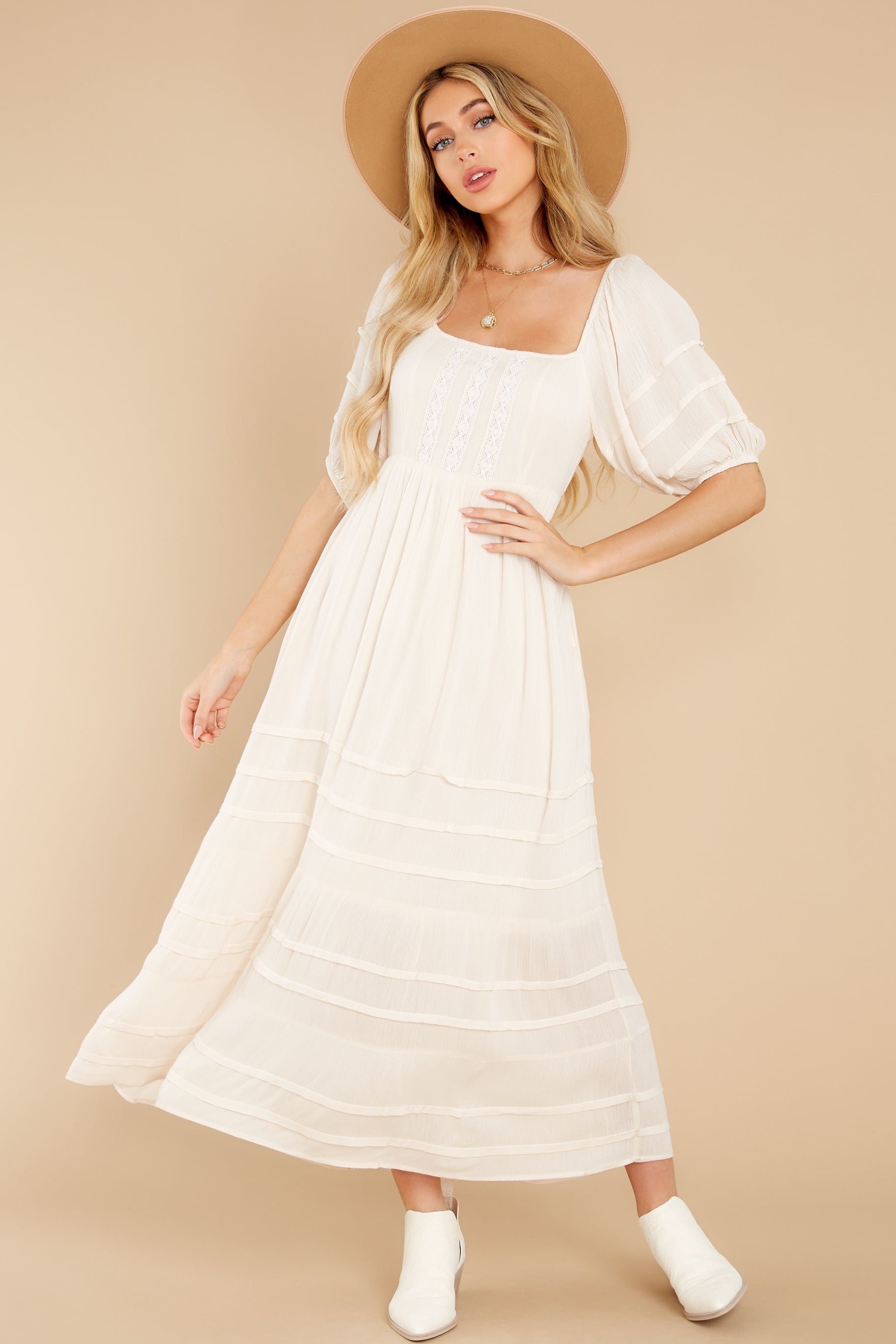 8 Long Way Around Ivory Maxi Dress at reddress.com