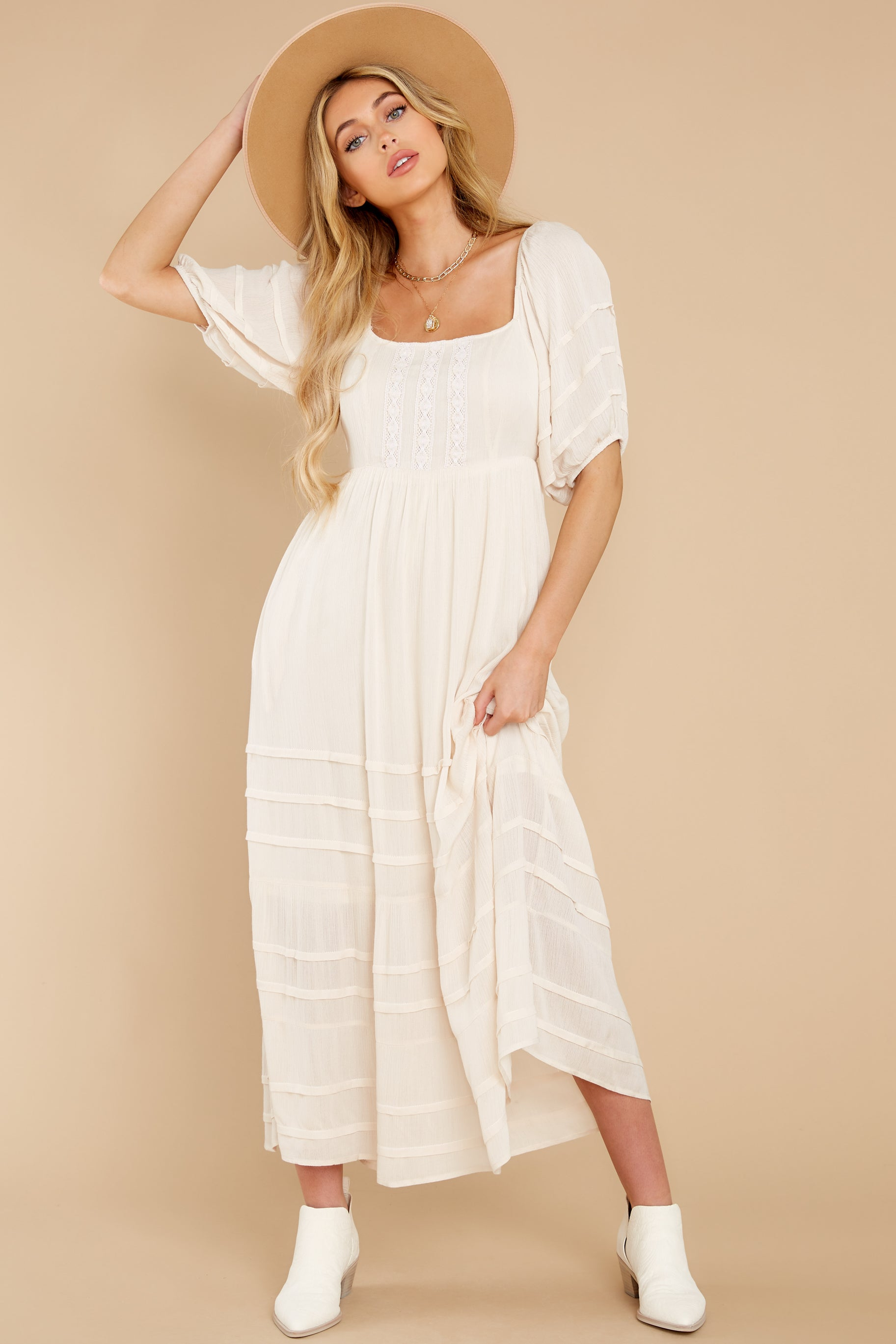 5 Long Way Around Ivory Maxi Dress at reddress.com