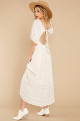 10 Long Way Around Ivory Maxi Dress at reddress.com