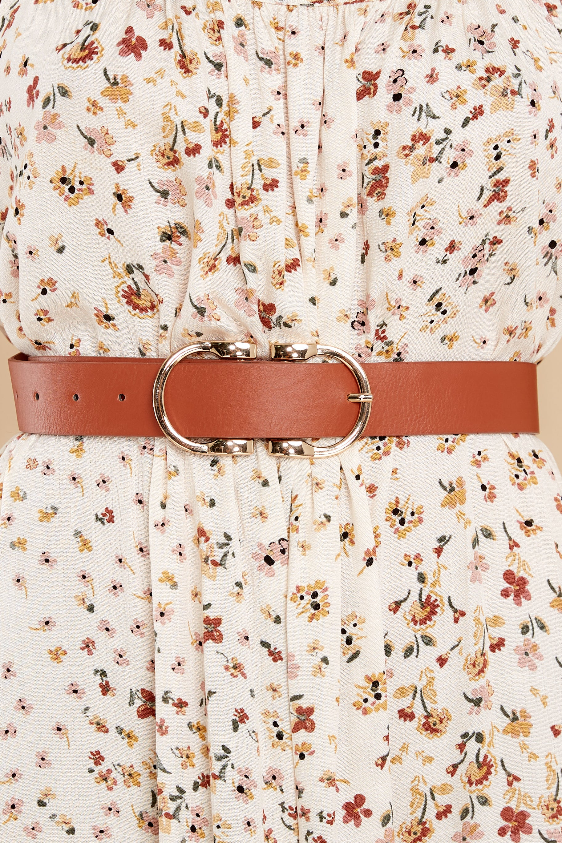 1 Here To There Cognac Belt at reddress.com
