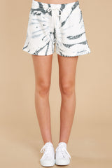 3 Don't Blink Black Tie Dye Lounge Shorts at reddress.com