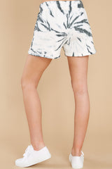 4 Don't Blink Black Tie Dye Lounge Shorts at reddress.com