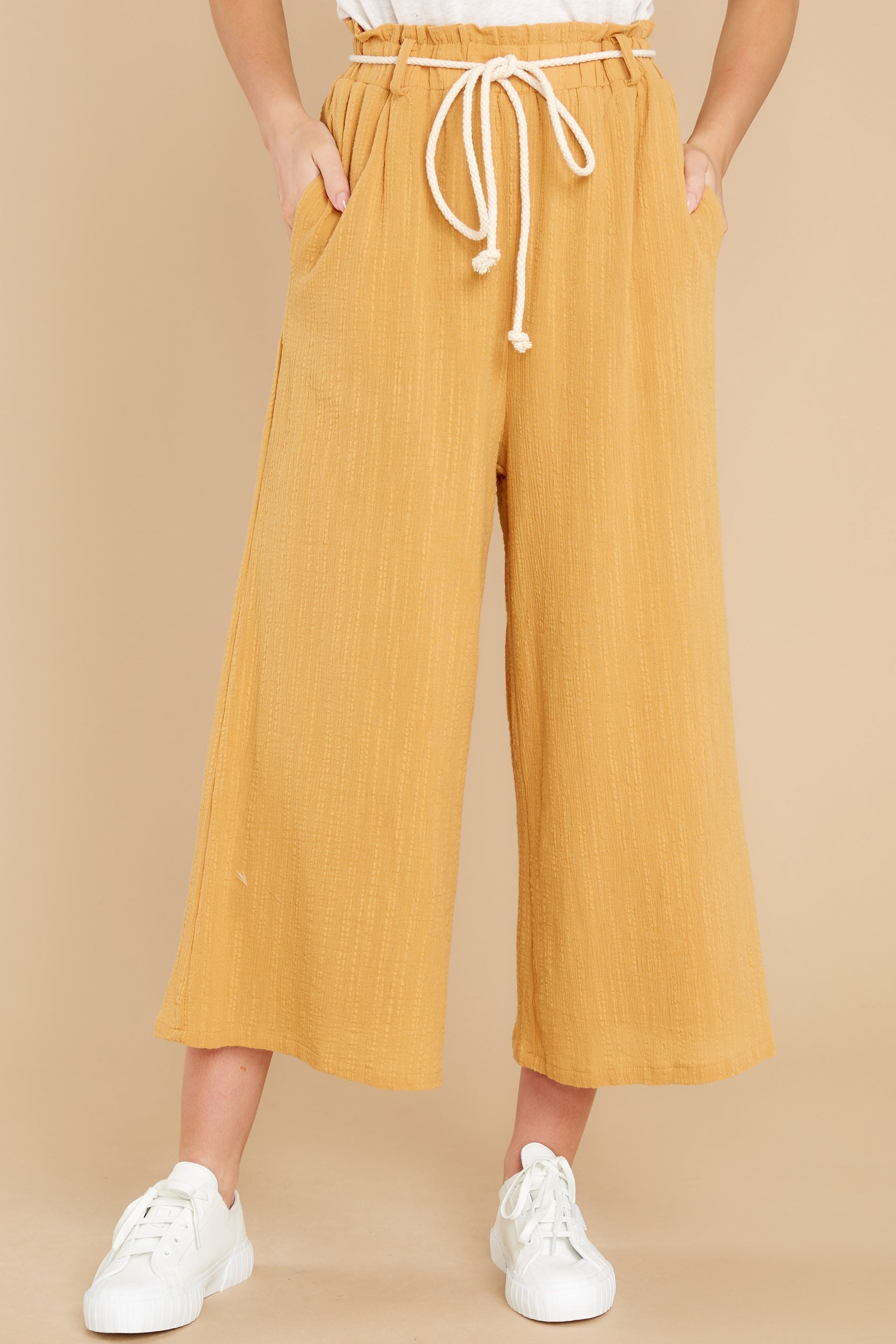 2 Eternal Bliss Mustard Pants at reddress.com