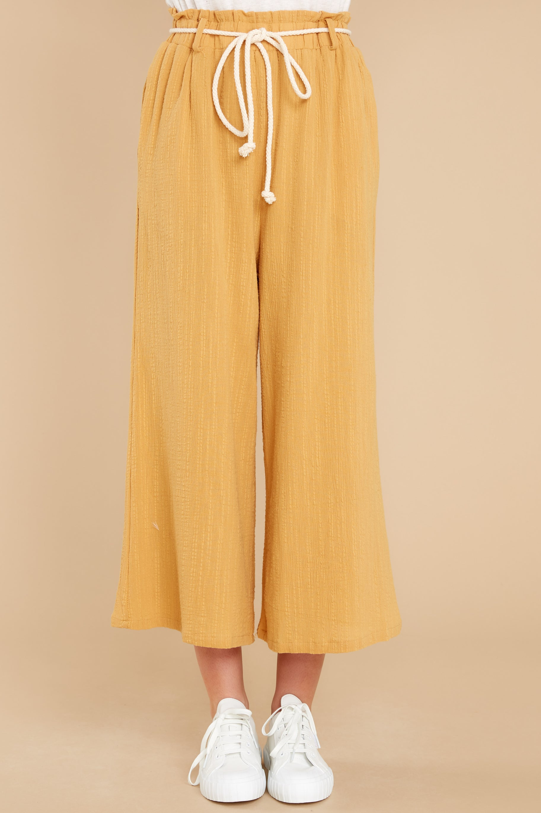 4 Eternal Bliss Mustard Pants at reddress.com