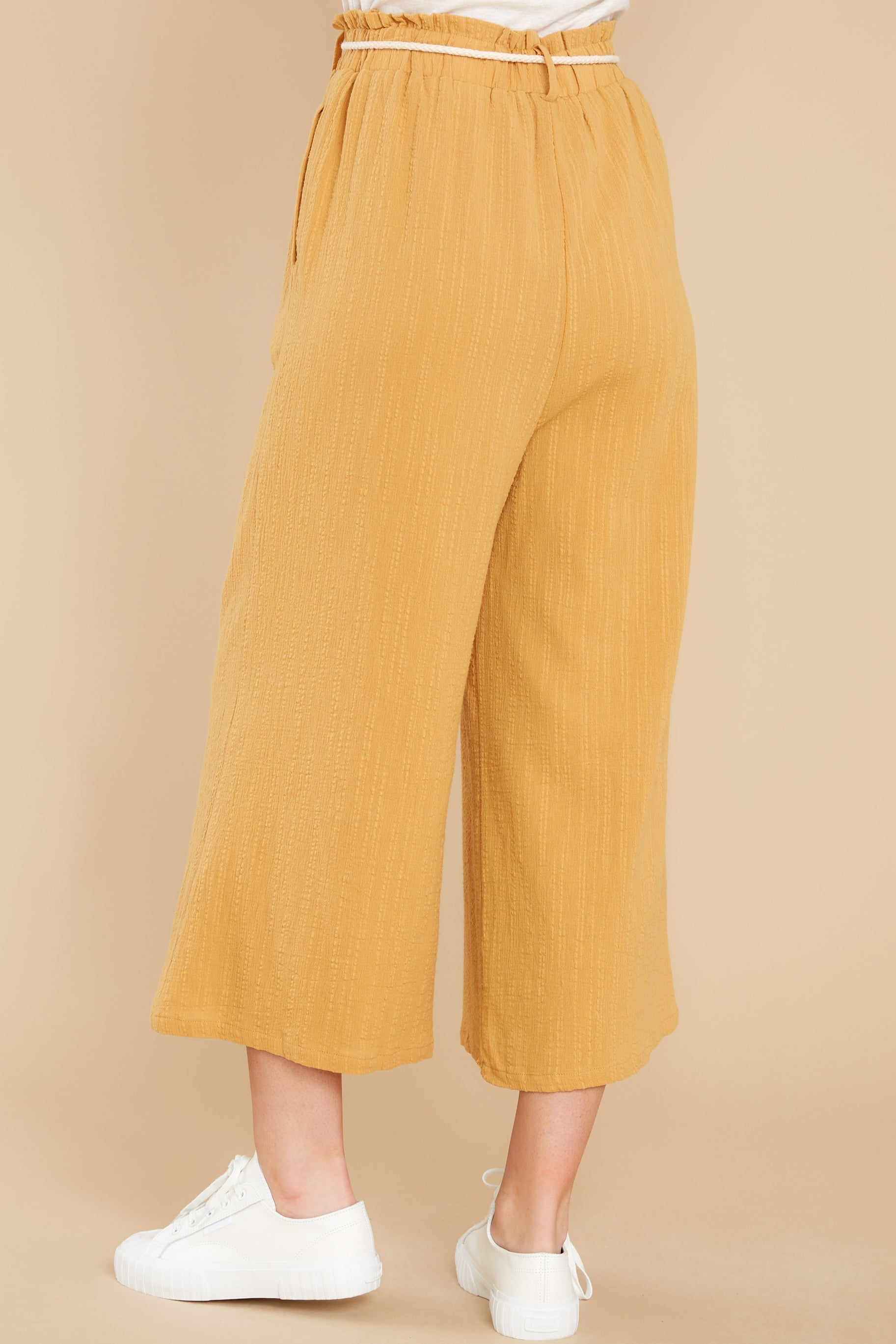 3 Eternal Bliss Mustard Pants at reddress.com