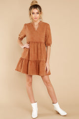 4 Not So Basic Caramel Brown Dress at reddress.com