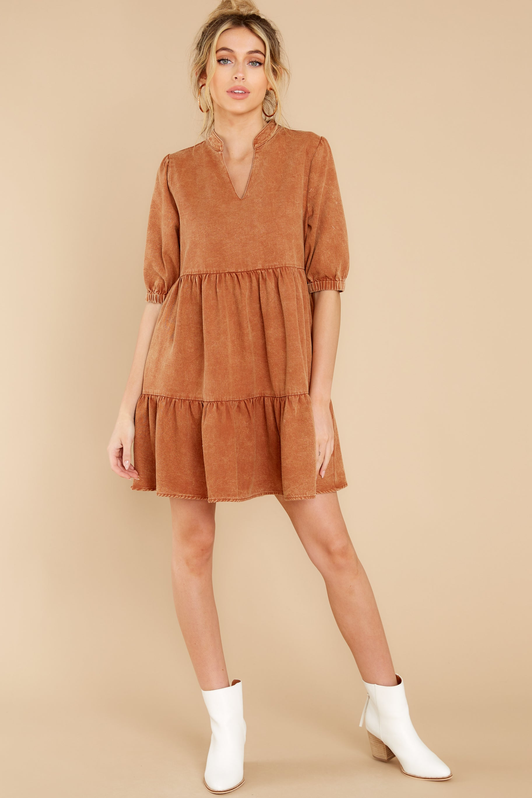 3 Not So Basic Caramel Brown Dress at reddress.com