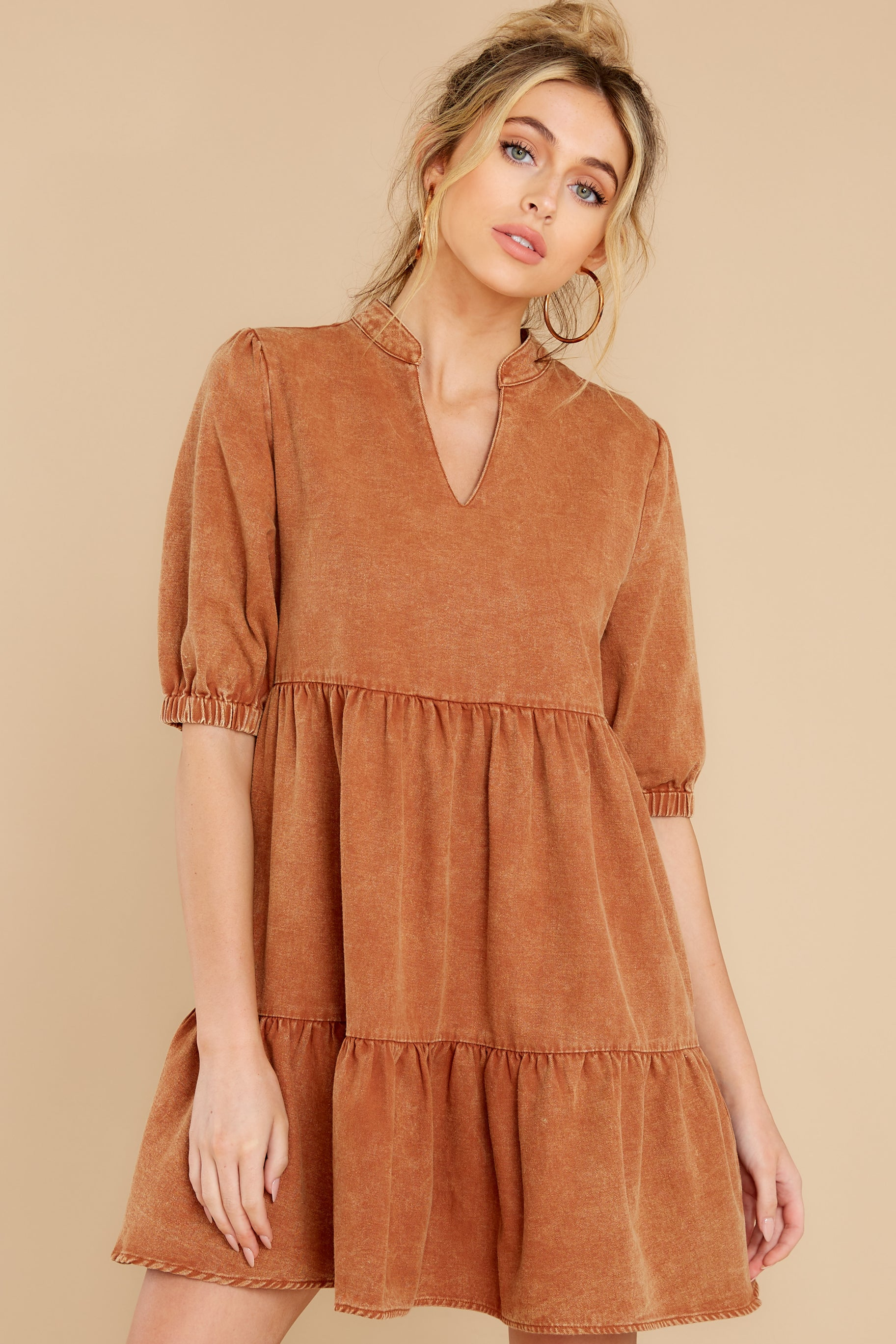 5 Not So Basic Caramel Brown Dress at reddress.com