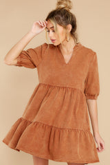 7 Not So Basic Caramel Brown Dress at reddress.com