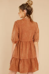 8 Not So Basic Caramel Brown Dress at reddress.com