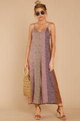 2 Casually Chic Violet Multi Floral Print Jumpsuit at reddress.com