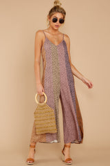 3 Casually Chic Violet Multi Floral Print Jumpsuit at reddress.com