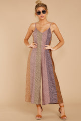5 Casually Chic Violet Multi Floral Print Jumpsuit at reddress.com