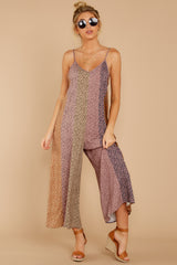 8 Casually Chic Violet Multi Floral Print Jumpsuit at reddress.com