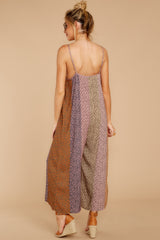 9 Casually Chic Violet Multi Floral Print Jumpsuit at reddress.com