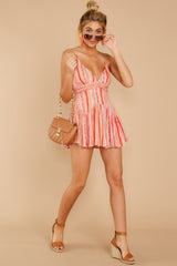 4 In The Sunshine Coral Multi Romper at reddress.com