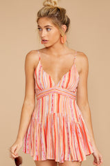 8 In The Sunshine Coral Multi Romper at reddress.com