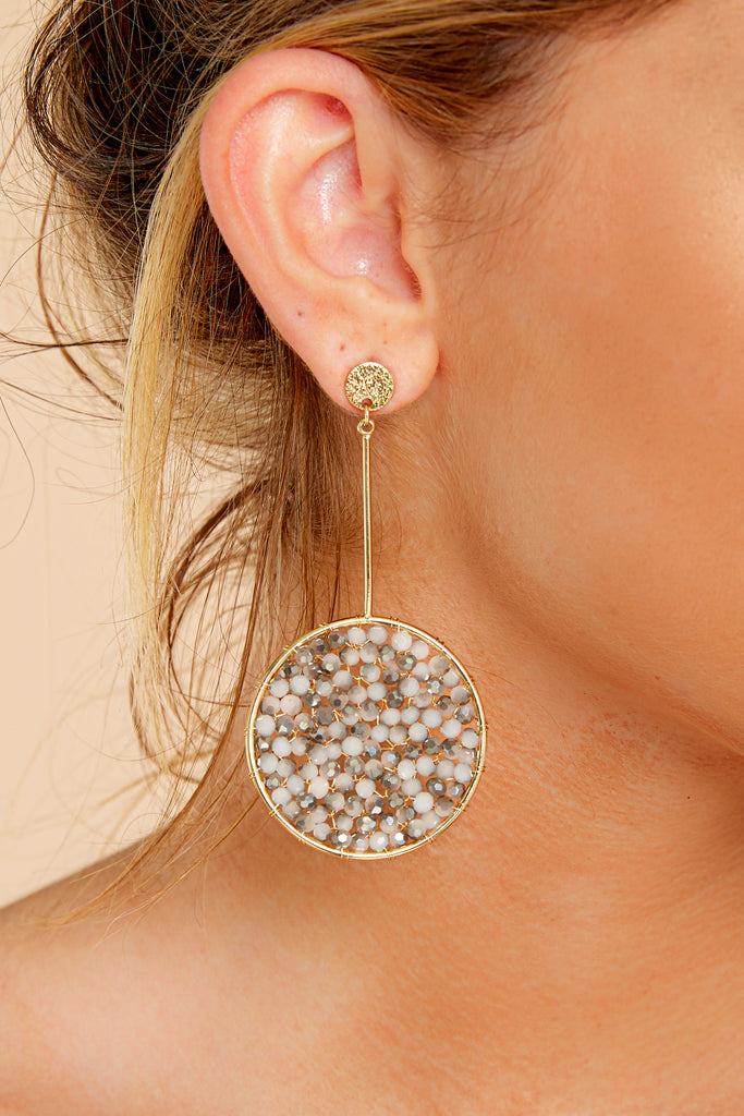 Take In This Moment Grey Earrings