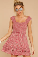6 Sweetness With Sass Red Print Dress at reddressboutique.com