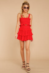 2 Frilled With Life Red Two Piece Set at reddressboutique.com