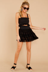 2 Frilled With Life Black Two Piece Set at reddress.com