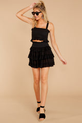Frilled With Life Black Two Piece Set (BACKORDER 10/10)