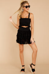 4 Frilled With Life Black Two Piece Set at reddress.com