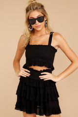 5 Frilled With Life Black Two Piece Set at reddress.com