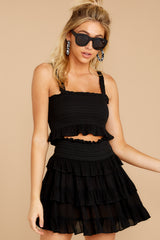 6 Frilled With Life Black Two Piece Set at reddress.com