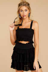 7 Frilled With Life Black Two Piece Set at reddress.com