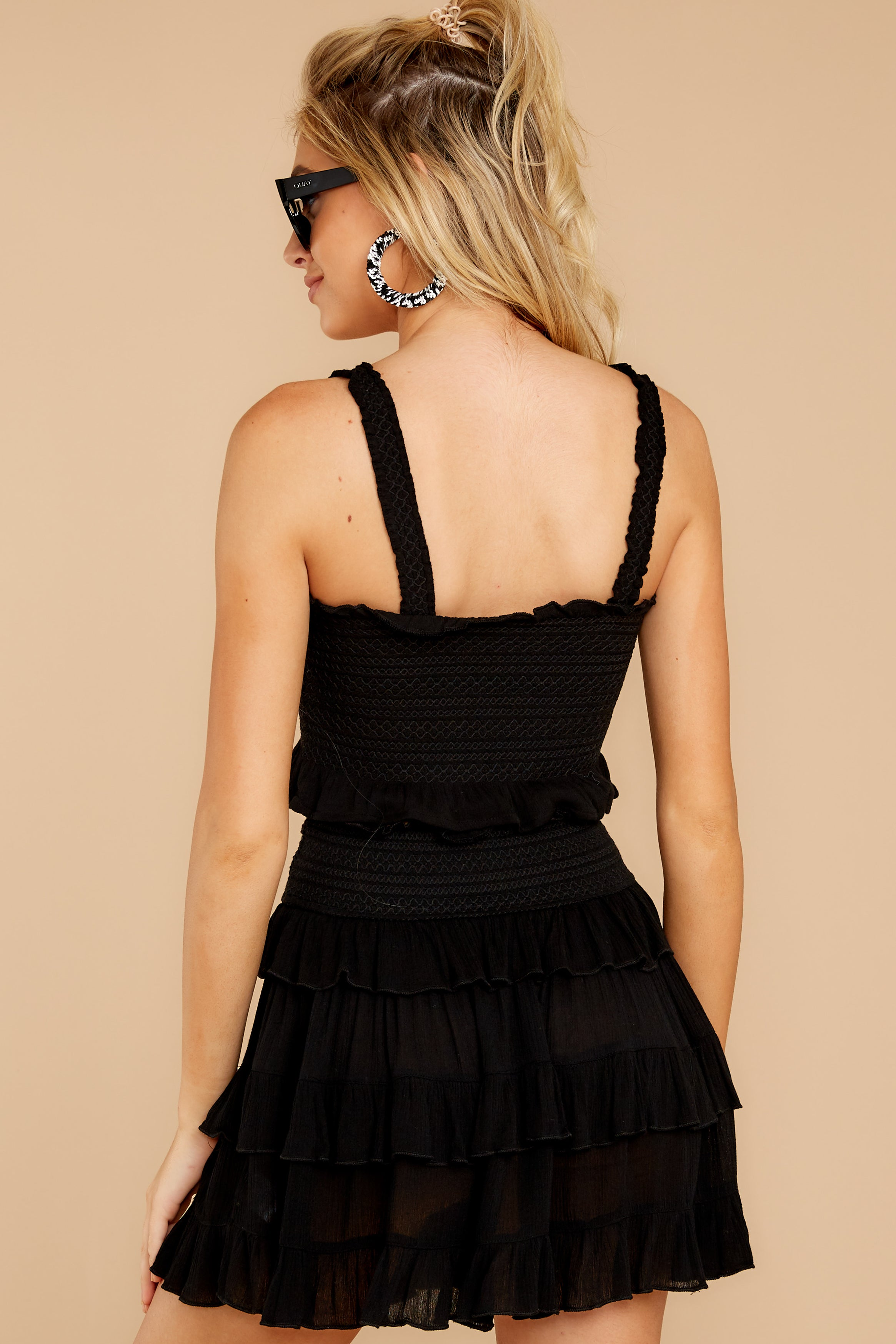 8 Frilled With Life Black Two Piece Set at reddress.com