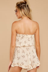9 Out For A Stroll Ivory Print Romper at reddressboutique.com