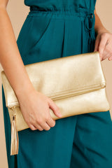 4 Sealed Secrets Gold Clutch at reddressboutique.com