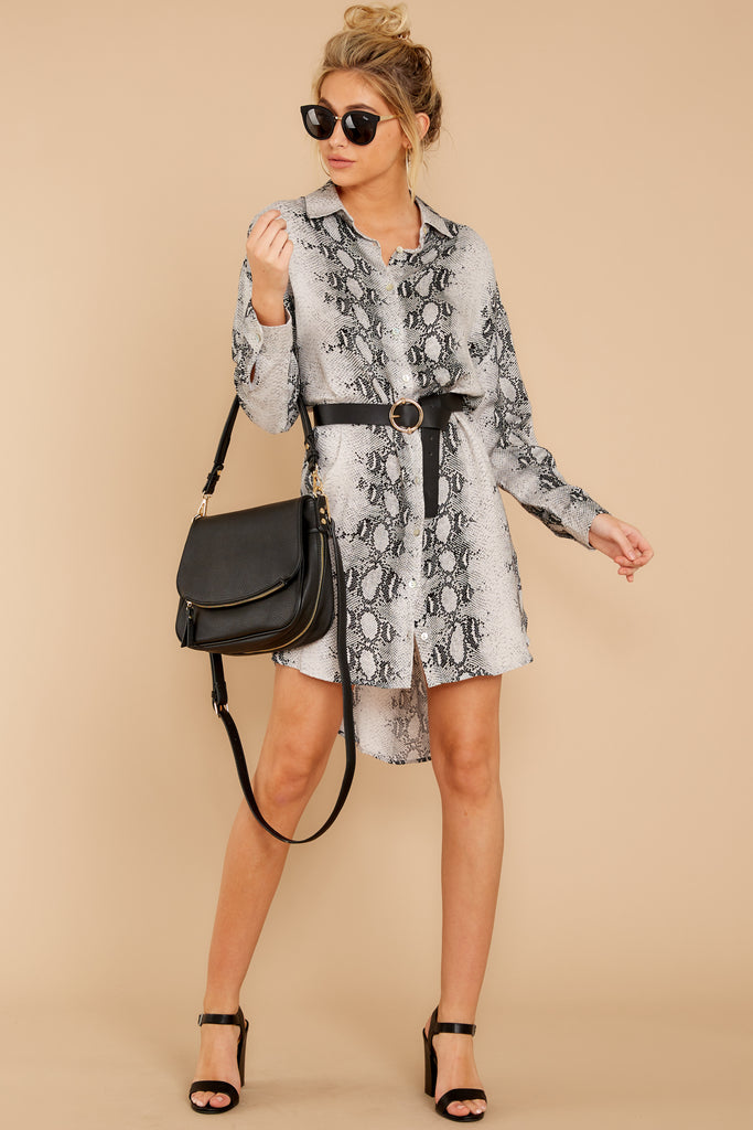 1 On The Sly Snake Print Dress at reddressboutique.com