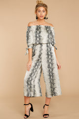 4 Bolder Is Better Snake Print Midi Jumpsuit at reddressboutique.com