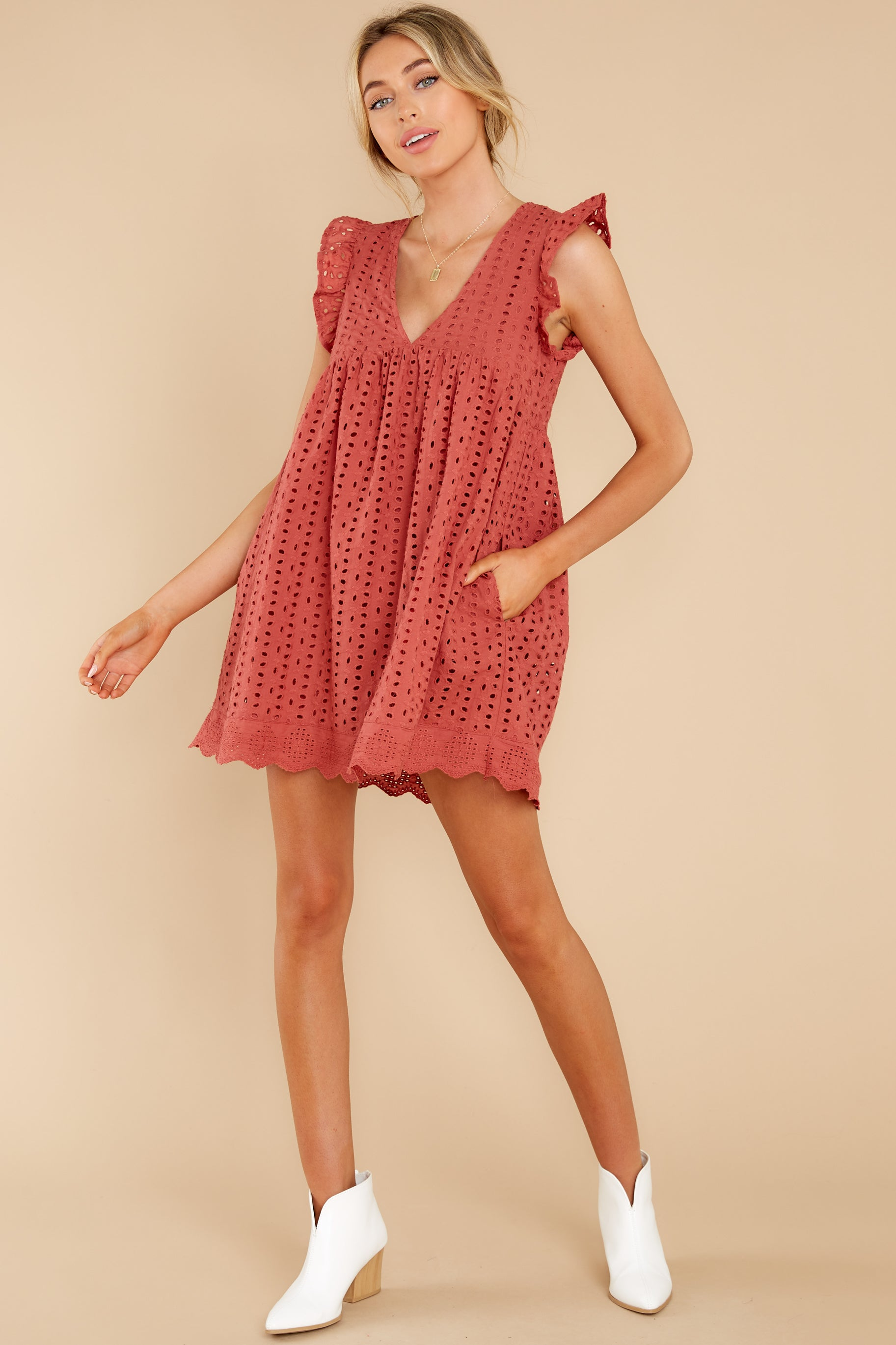 3 Keep A Secret Brick Romper Dress at reddress.com