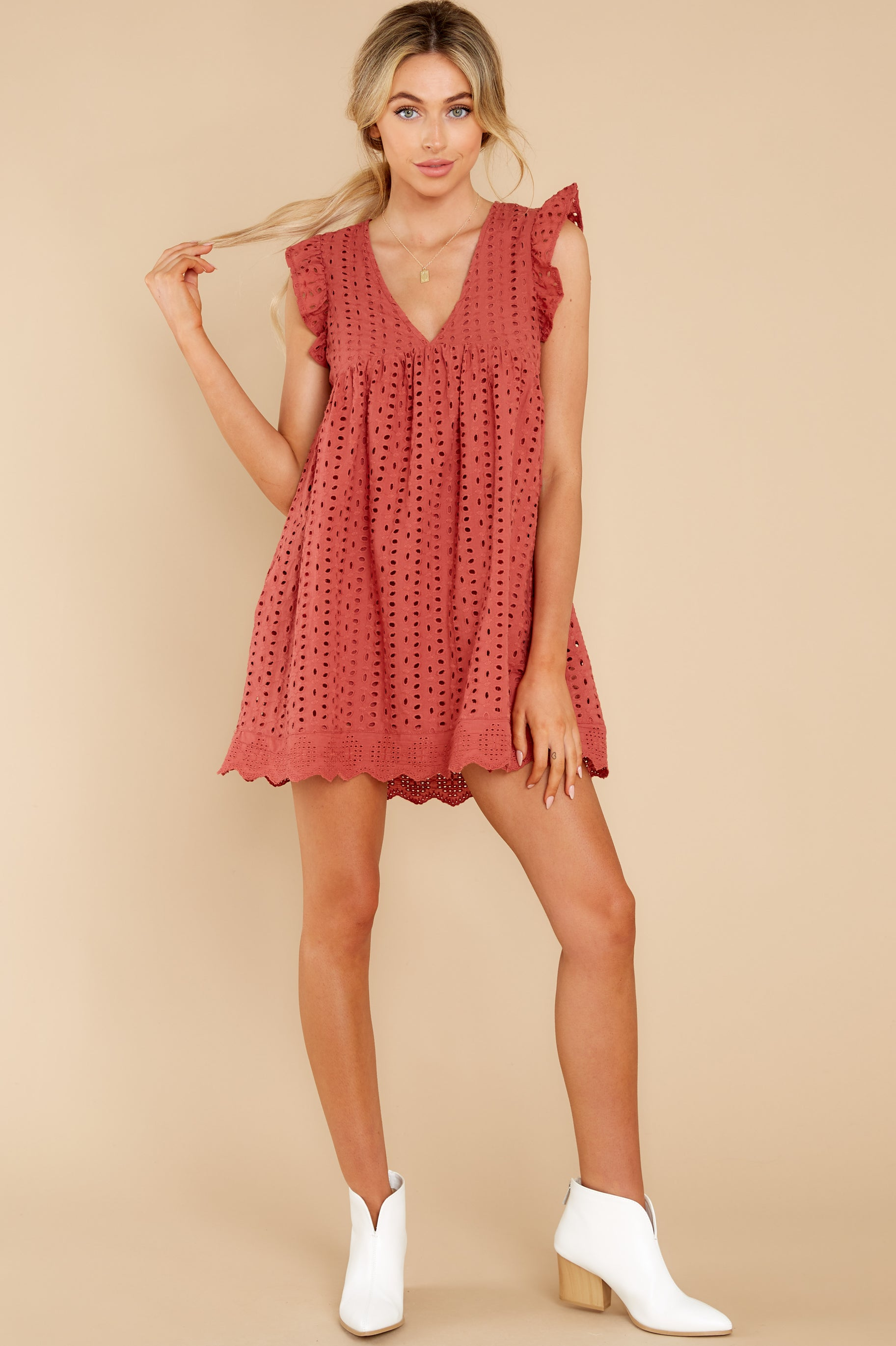 2 Keep A Secret Brick Romper Dress at reddress.com