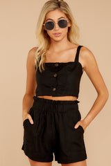 6 Out On A Lark Black Two Piece Set at reddress.com