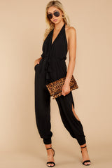 2 Close Enough Black Jumpsuit at reddressboutique.com