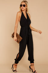 4 Close Enough Black Jumpsuit at reddressboutique.com