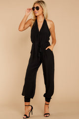 5 Close Enough Black Jumpsuit at reddressboutique.com