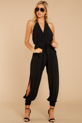9 Close Enough Black Jumpsuit at reddressboutique.com